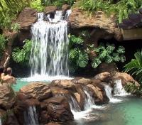 Costa Rica Cloudforest & Coast Tours 2018 - 2019 -  Thermal Waterfall at The Springs Resort & Spa