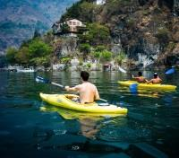 Guatemala Family Getaway Tours 2019 - 2020 -  Kayaking on Lake Atitlan