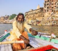 India Grand Journey Tours 2019 - 2020 -  Mystic Rowing Boat on the Holy Ganges River