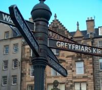 Edinburgh Military Tattoo Tours 2017 - 2018 -  Street Sign in Edinburgh