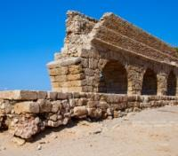 Israel Highlights Tours 2018 - 2019 -  Ancient Aqueduct in Caesarea