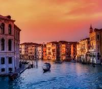 Italian Honeymoon Tours 2019 - 2020 -  Sunset on the Grand Canal