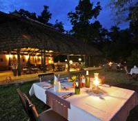 Uganda Highlights Tours 2019 - 2020 -  Ishasha Wildnerness Camp Dining