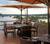 Murchison Falls Tours 2019 - 2020 -  Outdoor Dining at the Chobe Safari Lodge