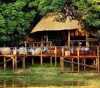 South Luangwa National Park Tours 2017 - 2018 - The Bilimungwe Open Air Bistro Overlooking Water