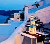 Greek Island Honeymoon Tours 2017 - 2018 -  Restaurant with View