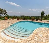Queen Elizabeth National Park Tours 2019 - 2020 -  Kyambura Gorge Lodge Swimming Pool