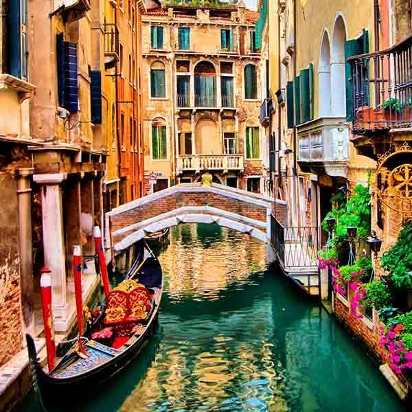 Venice canals boat city