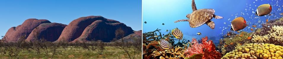 The Spirit of Australia Tours 2018 - 2019 -  Ayers Rock & Great Barrier Reef