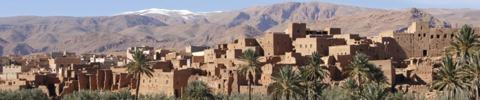 Morocco Highlights & High Atlas Mountains  Tours 2019 - 2020 -  High Atlas towering over Kasbah