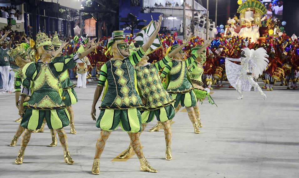 Enjoy the winner's parade at Rio's Carnival.