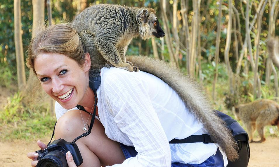 Visit Andasibe National Park and interact with lemurs.