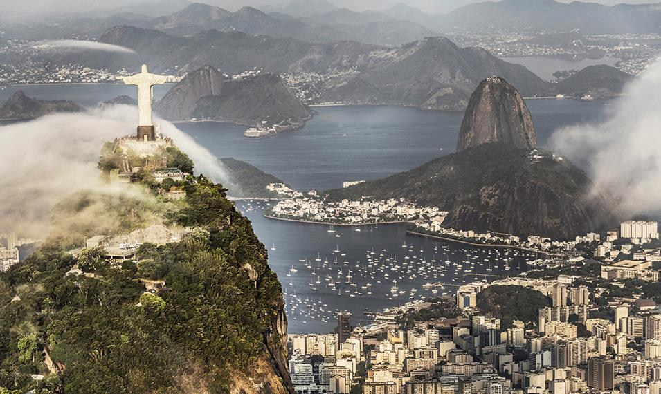 Enjoy the views from the Christ the Redeemer statue.