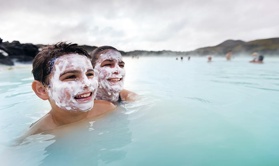 Relax in the rejuvenating waters of the Blue Lagoon.