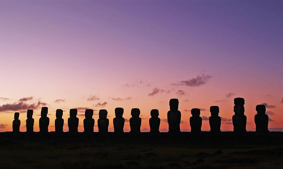 Get an up close and personal look at the famous Moai figures found on Easter Island.