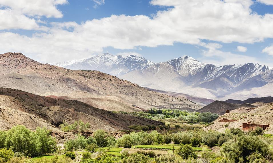Trek through the High Atlas Mountains for incredible views.