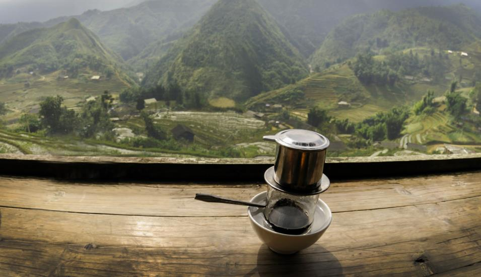 Sip traditional Vietnamese coffee - a must while visiting the country.