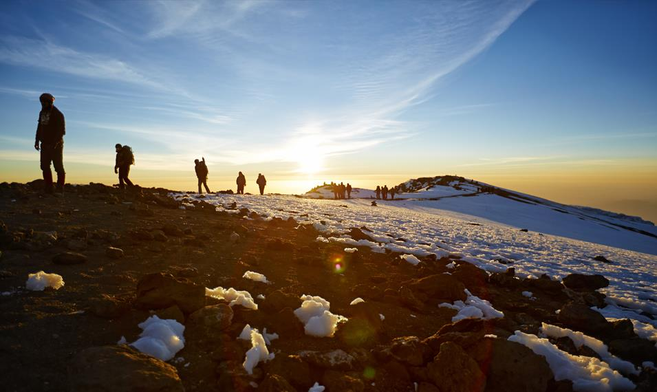 Embark on an exhilarating trek to the summit of Mount Kilimanjaro.